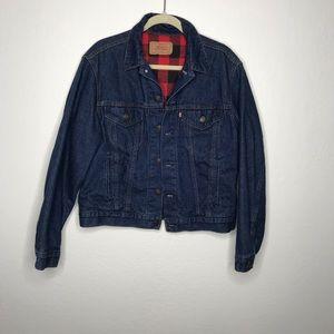 Vintage Levi's Flannel Lined Jean Trucker Jacket